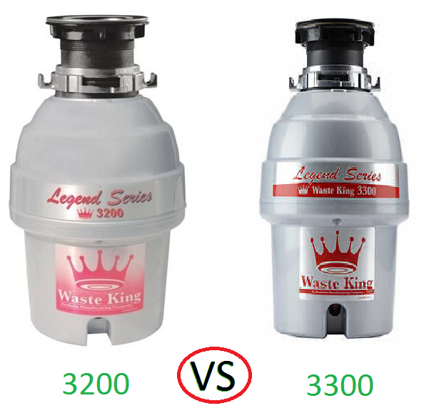 Waste King 3200 Vs 3300 What Is The Difference Between Them Disposal Answers