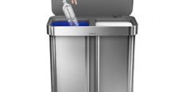 dual trash can - best two compartment trash can