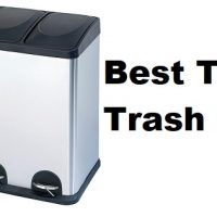 Triple Trash Can - 3 compartment trash can