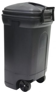 Wheeled outdoor trash can can